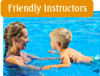 friendly swimming instructors